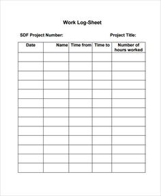 Activity Log Template  Activity Log Template