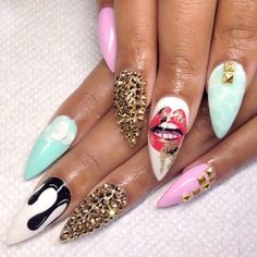 50 coffin nail art designs coffin nails lips and nude hust the drip prinsesfo Choice Image