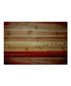 Another great find on #zulily! Flying South Natural Pinewood Wall Art #zulilyfinds