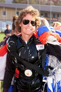 ERAU Alumni Cheryl Stearns ('85, WW) is an American skydiver. Stearns is noted for having won the Bronze Medal in Women's Overall Individual Style and Accuracy at the XXV World Parachuting Championships in Japan in 2000. Stearns is also noted for the most total parachute jumps made by a woman, 15,560 jumps as of August 2003, as well as the most parachute jumps made in a 24 hour period by a woman, 352 jumps from November 8-9, 1995.