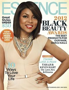 Taraji P. Henson, Kevin Hart and Michael Ealy have joined forces for the May 2012 issue of ESSENCE magazine, which hits newsstands on April Taraji, being the diva that she is, also manages to grace a seperate cover all by her pretty little self. V Magazine, Black Magazine, Magazine Covers, Magazine Stand, Black Is Beautiful, Looking Gorgeous, Beautiful Women, Vanity Fair, Marie Claire