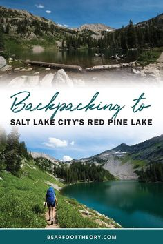 A detailed hiking and backpacking guide to Red Pine Lake - one of the most beautiful spots in the Wasatch just 35 minutes from downtown Salt Lake. Backpacking Trails, Camping And Hiking, Utah Hikes, Us Road Trip, Travel Activities, Hiking Backpack, Salt Lake City, Travel Posters, Adventure Travel