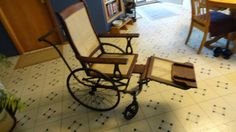Antique Caned Wheelchair (1900s)