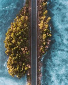 Picture of the day for January 02 2017 at 08:44PM from 'Daily Overview;  Check out this incredible drone shot of a frozen lake in Norway. Captured by @oscarwastaken on a road trip across the country it reminds us of the unexpected beauty and awe that we can discover from the Overview perspective. (at Stavanger Norway)