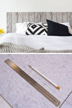 Wood Fabric Headboard | Click for 18 DIY Headboard Ideas | DIY Bedroom Decor Ideas on a Budget