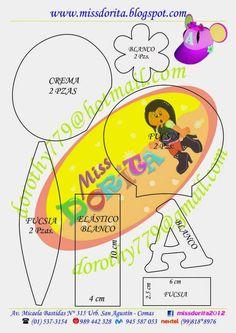Miss Dorita: Molde del Video de la Gorra de Angelina Ballerina Mickey Mouse, Angelina Ballerina, Paper Crafts, Diy Crafts, Paper Piecing, Party Hats, Cricut, Pattern, Cupcake