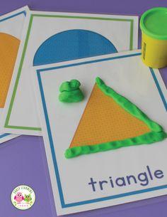 Shape Playdough Mats & Dot Cards