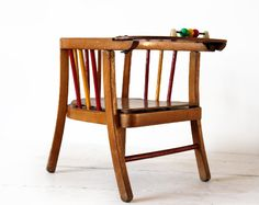 Vintage MIDCENTURY CHILD's wooden CHAIR 1960