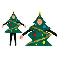 Disfraz de Árbol de Navidad Infantil Christmas Tree Costume, Christmas Crafts, Christmas Decorations, Xmas, Christmas Ornaments, Holiday Decor, Holiday Ideas, Sunday School, Special Events