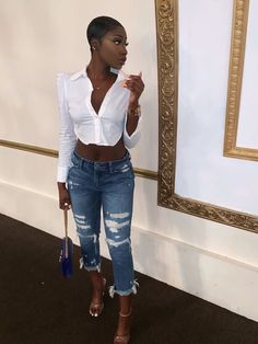 Pretty Outfits, Cute Outfits, Girl Outfits, Fashion Outfits, Fashion Ideas, Fashion Inspiration, Pretty Black Girls, Grown Women, Look Fashion