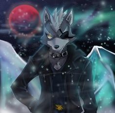 Wolf O'Donnell wandering in Fichina at Night by VivianWolf18 on DeviantArt