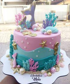 Mermaid Party Food, Mermaid Birthday Cakes, Mermaid Cakes, Ocean Cakes, Beach Cakes, Crazy Cakes, Disney Cakes, Gorgeous Cakes, Girl Cakes
