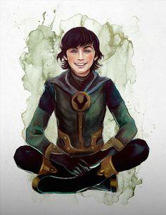 Is it just me or does this kid Loki look like young Troye Sivan with Chandler Riggs' hair? Loki Marvel, Loki Thor, Tom Hiddleston Loki, Loki Laufeyson, Lady Loki Cosplay, The Wicked The Divine, Loki God Of Mischief, Superhero Cosplay, Young Avengers