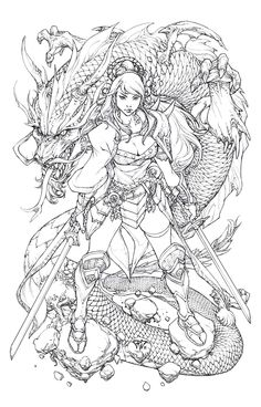 by Paolo Pantalena Japanese Drawings, Japanese Tattoo Art, Japanese Art, Adult Coloring Book Pages, Coloring Books, Colouring, Samourai Tattoo, Art Sketches, Art Drawings