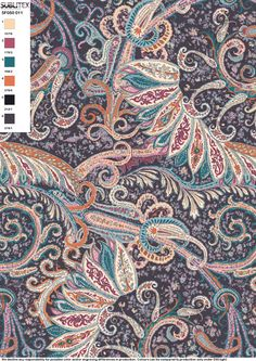 Paisley Design, Paisley Pattern, Pattern Art, Paisley Print, Pattern Design, Design Textile, Textile Prints, Textiles, Textures Patterns