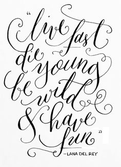 Beautiful Lana Del Rey quote by Caroline Hutchison aka Linalulu Paperie Lana Del Rey Quotes, Lana Del Rey Lyrics, Typography Quotes, Typography Letters, Hand Lettering Envelopes, Different Lettering, Lyric Tattoos, How To Write Calligraphy, Lettering Tutorial