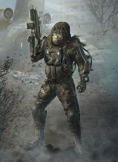 soldier_concept, Alexey Smola on ArtStation at https://www.artstation.com/artwork/2kneB