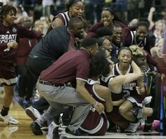 UConn's record 111-game winning streak came to a startling end when Mississippi State pulled off perhaps the biggest upset in women's basketball history, shocking the Huskies 66-64 on Morgan William's overtime buzzer beater in the national semifinals Friday night.