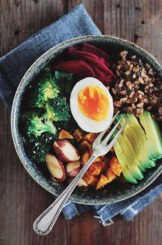 Avocado Egg Rice Salad bowl