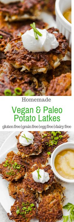 There are plenty of potato latke recipes out there for Hanukkah, but these are s. There are plenty of potato latke recipes out there for Hanukkah, but these are special because they Vegan Recipes Videos, Best Gluten Free Recipes, Vegan Dinner Recipes, Paleo Dinner, Vegan Recipes Easy, Vegetarian Recipes, Vegetable Recipes, Vegan Vegetarian, Paleo Side Dishes
