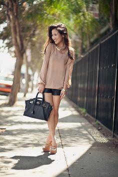 Leather shorts-2