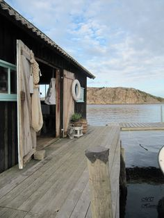 The Boathouse: a new definition to lakefront living! Boat Shed, Haus Am See, Lakefront Property, Beach Shack, Beach Cottages, French Chic, Rustic Design, Coastal Living, Decks