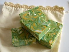 My soap is inspired by #SoapCrafting Psychadelic Green Tea