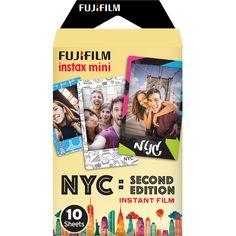 Fujifilm instax mini NYC Second Edition Instant Film Exposures) Instax Mini Camera, Instax Mini Film, Fujifilm Instax Mini, Photo Printer, Card Sizes, Digital Camera, Event Planning, Vivid Colors, Nikon