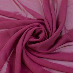 Mera Magenta Hi-Multi solide tissu mousseline de soie de la Cour, mariage en mousseline de soie, tissu mousseline de soie, tissu mousseline de soie léger - Style 500