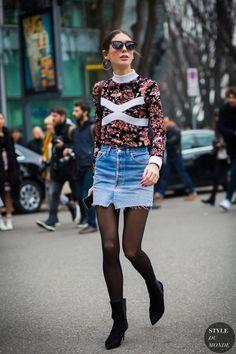 Street Style // Diletta Bonaiuti street style look.