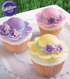 Pretty Bonnet Cupcakes