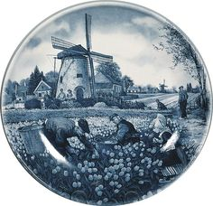 Collector Plates Dutch Tulip Pickers