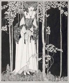 """John Austen (1886-1948), Ophelia, Illustration pour """"Hamlet"""" - 1922"""