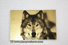 Photo engraving on double color board. #60wlaser #co2lasermachine #laserengraver #photograv #lasercutter #engraving