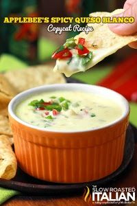Applebee's Copycat Spicy Queso Blanco #gameday This cheese dip recipe is great for all occasions!