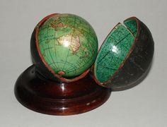 Nicolas Lane pocket terrestrial and celestial globes