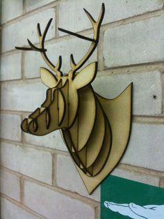 DIY and Pattern http://www.instructables.com/id/MDFAcrylicCardboard-deer-head-taxidermy/