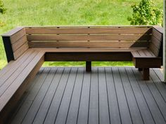 Image result for homemade deck with bench seats