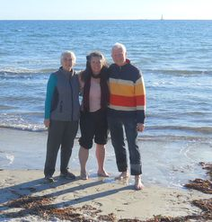 Lyell, Jane and Andrew at the ocean before the Awakening Inspired Living Conference.   http://www.riverdellspiritualcentre.org.au/