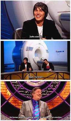Stephen Fry and Brian Cox getting it on