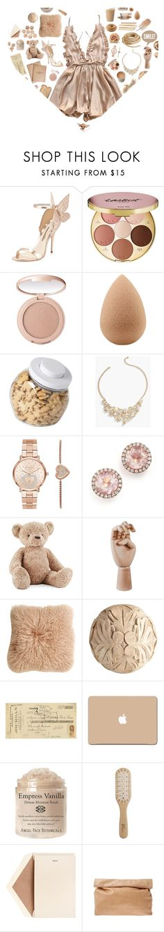 """Neutral Heart"" by kwonrena ❤ liked on Polyvore featuring Sophia Webster, tarte, beautyblender, Toast, OXO, Talbots, Michael Kors, Dana Rebecca Designs, Jellycat and HAY"