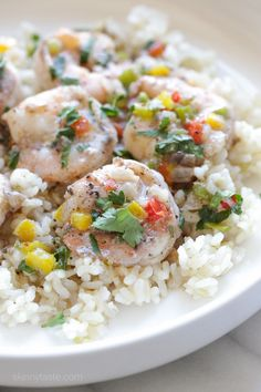 Jamaican Coconut Shrimp Stew –a quick, light and spicy shrimp dish simmered in coconut milk. Smart Points: 4 Calories: 182