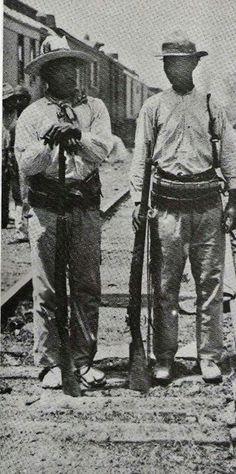Yaqui soldiers with Alvarado Abregon army circa 1911.......