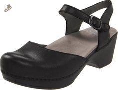 Dansko Women's Sam Ankle-Strap Clog,Black,38 EU/7.5-8 M US - Dansko mules and clogs for women (*Amazon Partner-Link)