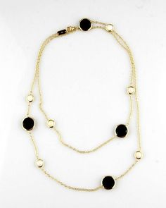 IPPOLITA NECKLACE 18K YELLOW GOLD ONYX AND AGAT #Ippolita #Chain