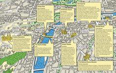 Matt Johnstone - Map of Prague for BMI's inflight Magazine Yeah Baby