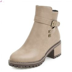 Cheap boots designer, Buy Quality boots fashion directly from China designer boots Suppliers: QUTAA 2018 Women Ankle Boots Zipper Design Fashion Square High Heel Round Toe All Match Ladies Motorcycle Boots Size Heeled Boots, Ankle Boots, Women's Boots, Women's Motorcycle Boots, Cheap Boots, Boot Types, Designer Boots, Aliexpress, Fashion Boots