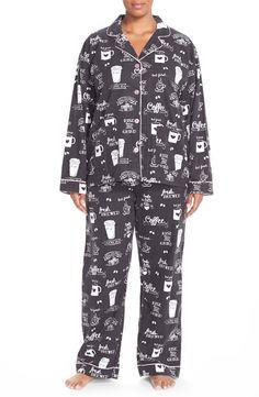PJ Salvage Print Flannel Pajamas (Plus Size 3x)