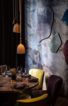 Joyce Wang designs Hong Kong's Ichu Peru restaurant, filled with contemporary takes on Peruvian classics. Contemporary Interior Design, Luxury Interior Design, Interior Design Inspiration, Stylish Interior, Luxury Restaurant, Restaurant Design, Restaurant Interiors, Restaurant Ideas, Chinese Restaurant