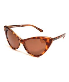 Look at this Havana & Gradient Brown Nikita Cat-Eye Sunglasses on #zulily today!